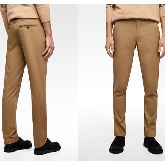 mas bajo precio gran selección de Amazonas Zara Man Chino Pants Slim Fit